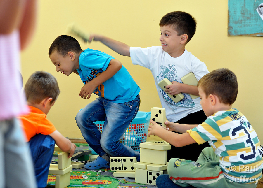 Roma children playing in the Nasa Radost preschool in Smederevo, Serbia. (Paul Jeffrey)