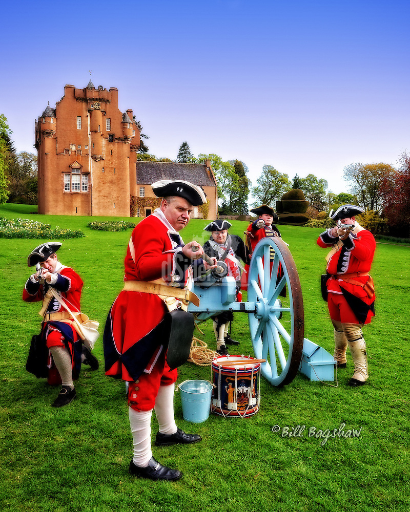 Redcoats attack Crathes Castle with a cannon (Bill Bagshaw/M. Williams)