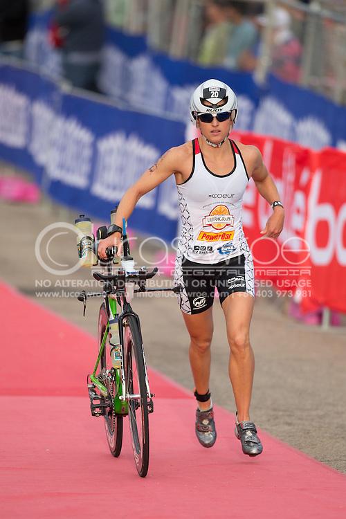 Kim Schwabenbauer (USA), March 23, 2014 - Ironman Triathlon : Swim Course. Ironman Melbourne Race Race, Frankston Transition, Melbourne, Victoria, Australia. Credit: Lucas Wroe (Lucas Wroe)