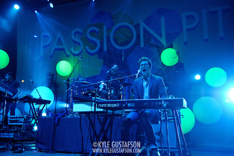 COLUMBIA, MD - May 11th,  2013 -   Passion Pit performs on the Main Stage at the 2013 Sweetlife Music and Food Festival at Merriweather Post Pavilion in Columbia, MD.  (Photo by Kyle Gustafson/For The Washington Post) (Kyle Gustafson/For The Washington Post)