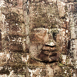 Carved Heads At Bayon Temple, Angkor Thom, Cambodia (unknown)