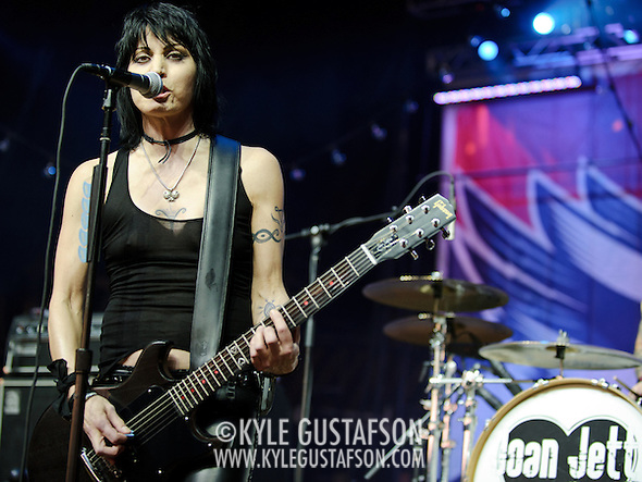 "COLUMBIA, MD - SEPTEMBER 25th, 2010:  Rock legend Joan Jett delighted the 2010 Virgin Mobile FreeFest crowd with a greatest hits set featuring ""Bad Reputation"" and ""I Love Rock n Roll."" (Photo by Kyle Gustafson/For The Washington Post) (Photo by Kyle Gustafson/For The Washington Post)"