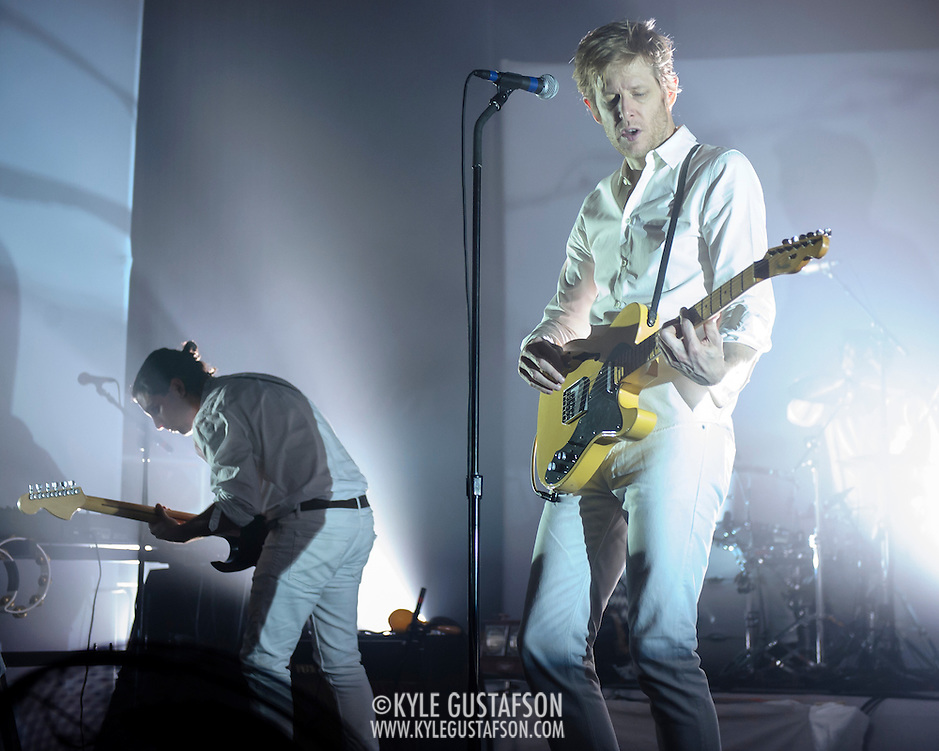 WASHINGTON, DC - September 2nd, 2014 - Alex Fischel  and Britt Daniel of Spoon perform during the first of three sold-out nights at the Lincoln Theatre in Washington, D.C.  The group recently released their eighth album, They Want My Soul. (Photo by Kyle Gustafson / For The Washington Post) (Kyle Gustafson/For The Washington Post)