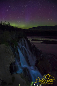 Northern Lights over Fall Creek Falls in Swan Valley Idaho. Fall Creek Falls dumps into the Snake River in a very pretty way.  I had been waiting for this day for years, I'm glad I was ready when it arrived (Daryl L. Hunter/© Daryl L. Hunter)