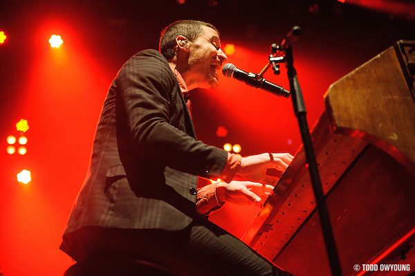 Mutemath performing at the Pageant in St. Louis, Missouri on February 28, 2012. (Todd Owyoung)