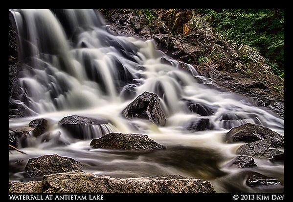 Waterfall at Antietam Lake Reading, PA July 2013 (Kim Day)