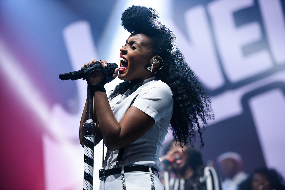 Photos of Janelle Monae performing live at Madison Square Garden, NYC. October 1, 2015. Copyright © Matthew Eisman. All Rights Reserved (Matthew Eisman/Photo by Matthew Eisman)
