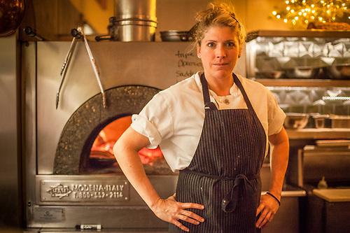 Line cook Kathryne Bennett works at Delefina in San Francisco. (Clark James Mishler)