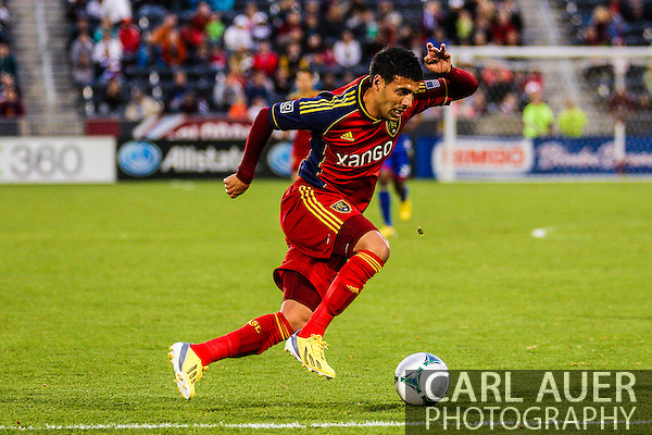 April 6th, 2013 - Real Salt Lake midfielder Javier Morales (11) makes an attack in second half action of the MLS match between Real Salt Lake and the Colorado Rapids at Dick's Sporting Goods Park in Commerce City, CO (Carl Auer/Newsport)