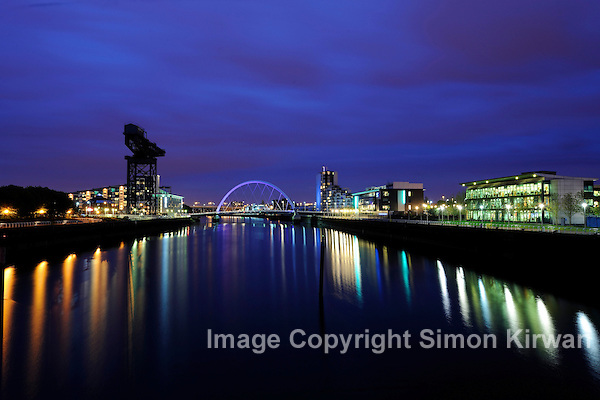 Squinty Bridge, Clyde Arc, Glasgow, Scotland - Architectural Photography By Simon Kirwan