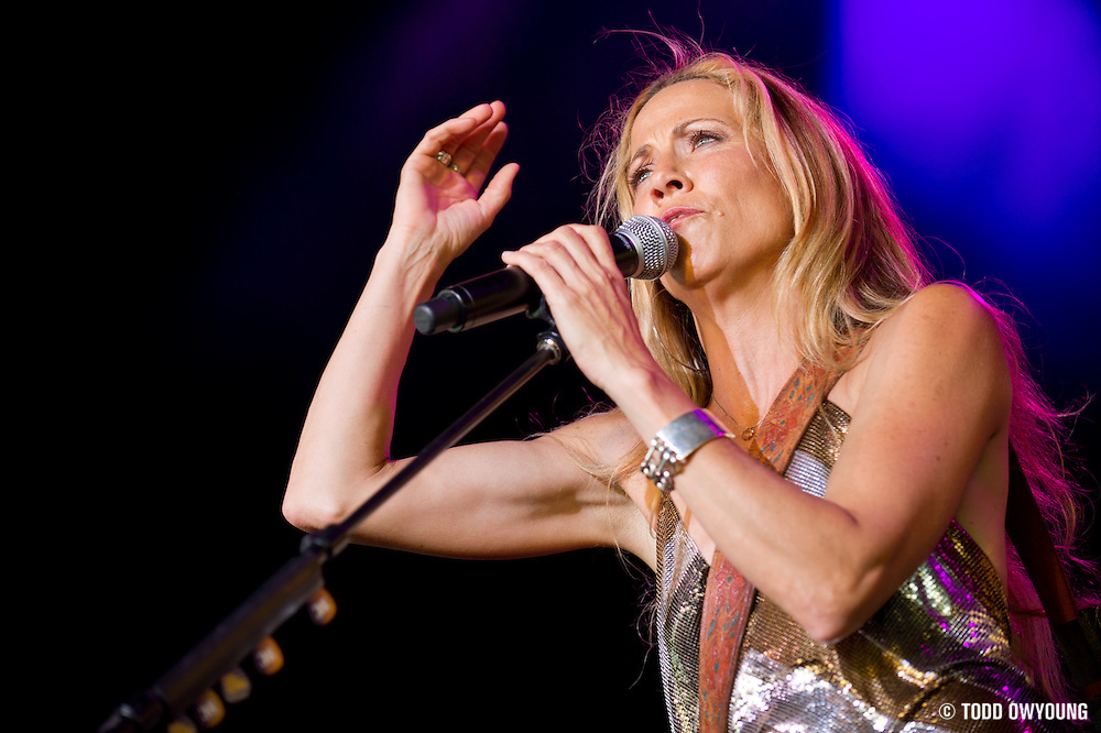 Sheryl Crow performing in support of Kid Rock on the Born Free Tour at Verizon Wireless Amphitheater in St. Louis Missouri on July 16, 2011. (Todd Owyoung)