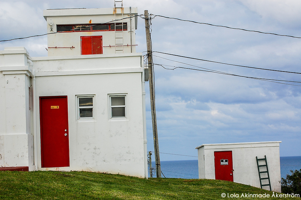 Postcard: Red, white, and blue isolation on Bermuda