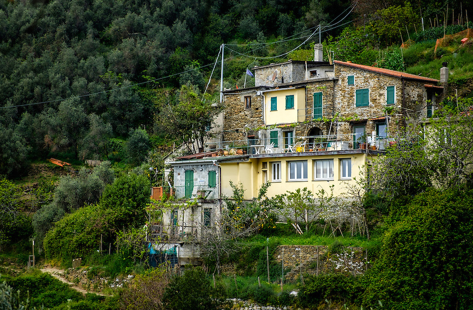 VERNAZZA, ITALY - CIRCA MAY 2015: House in the hills of Vernazza in Cinque Terre, Italy. (Daniel Korzeniewski)
