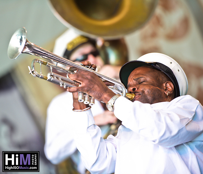 Treme Brass Band playing at the 2011 Voodoo Festival in New Orleans, LA. (Golden G. Richard III)