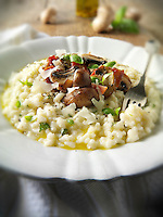 Classic risotto with wild porcini mushrooms and bacon (Paul Randall Williams)