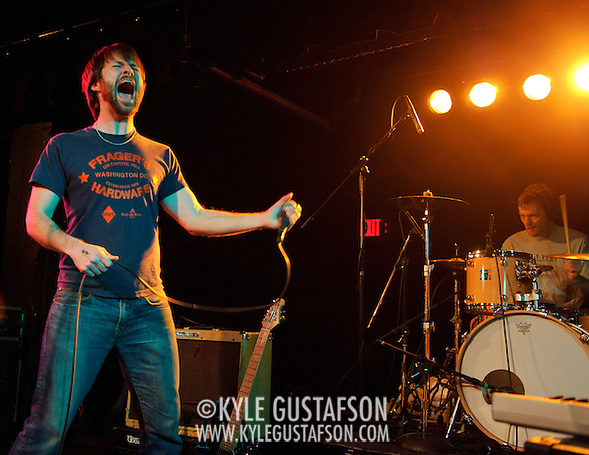 WASHINGTON, D.C. - January 21st, 2011: The Dismemberment Plan perform at the Black Cat in Washington, D.C. The band reunited for short US tour in conjunction with the reissue of their seminal album, Emergency &amp; I.  (Photo by Kyle Gustafson/For The Washington Post) (Photo by Kyle Gustafson / For The Washington Post)