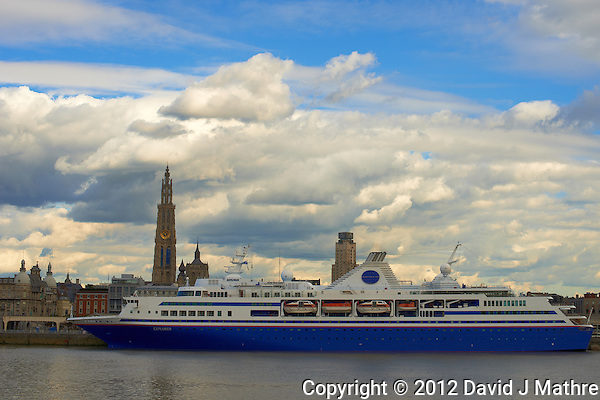 M/V Explorer Docked in Antwerp, Belgium. From Across the Schelde River. Image taken with a Nikon D800 and 70-300 mm VR lens (ISO 100, 50 mm, f/11, 1/200 sec) (David J Mathre)