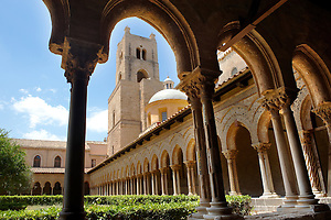 Cloisters with decorated coloumns of Monreale Cathedral - Palermo - Sicily (Paul Williams)