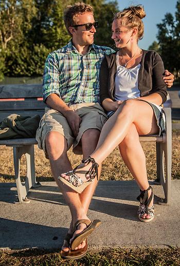 Mitchel and Emily Veenstra on the Delaney Park Strip, Anchorage (Clark James Mishler)