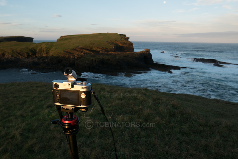 Leica M-240 in action at Yesnaby, Orkney, Scotland. (Andrew Tobin)