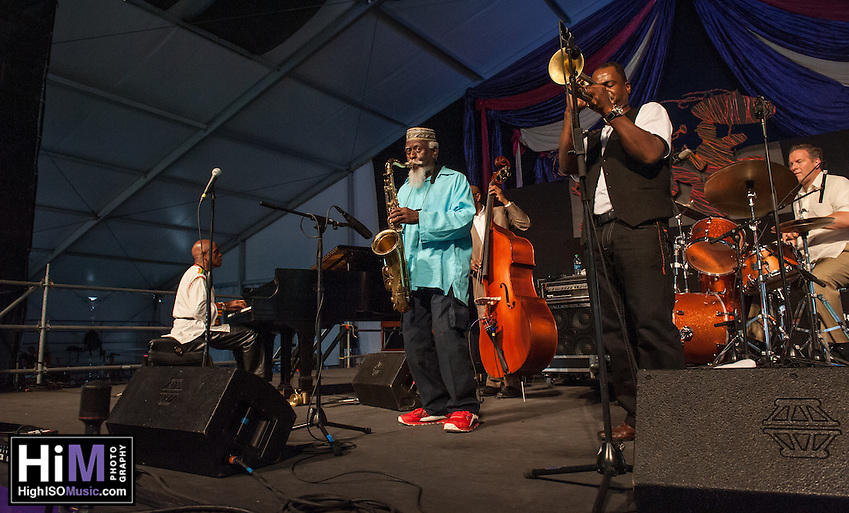 Pharoah Sanders performs at Jazz Fest 2014 in New Orleans, LA on Day 5. (HIGH ISO Music, LLC)