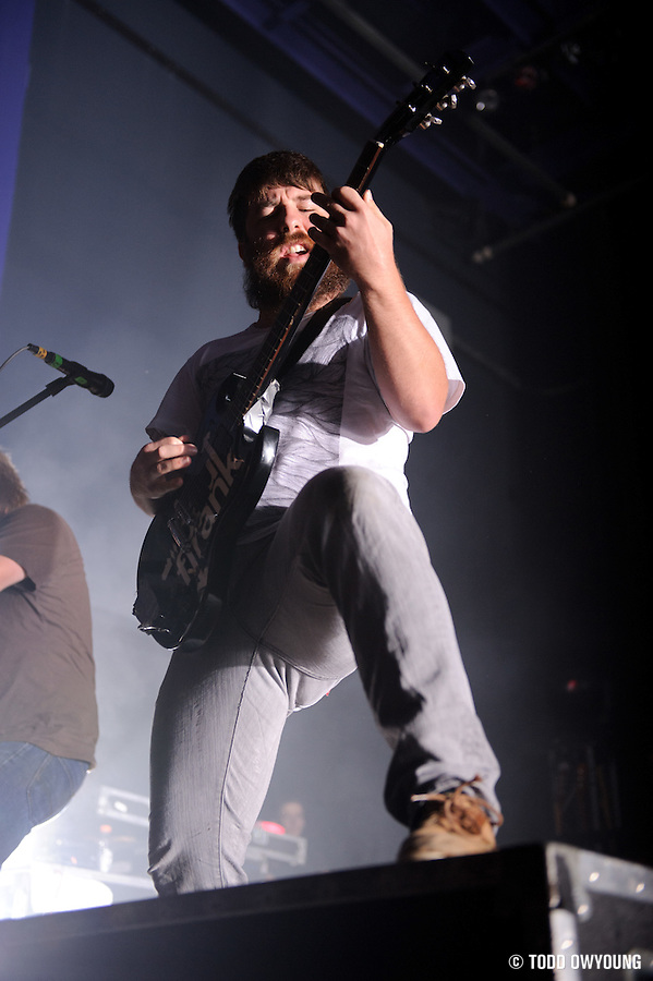 "Photos of Christian metalcore band Underoath performing at the Pageant in St. Louis on July 25, 2010 on ""The Cool Tour."" (TODD OWYOUNG)"