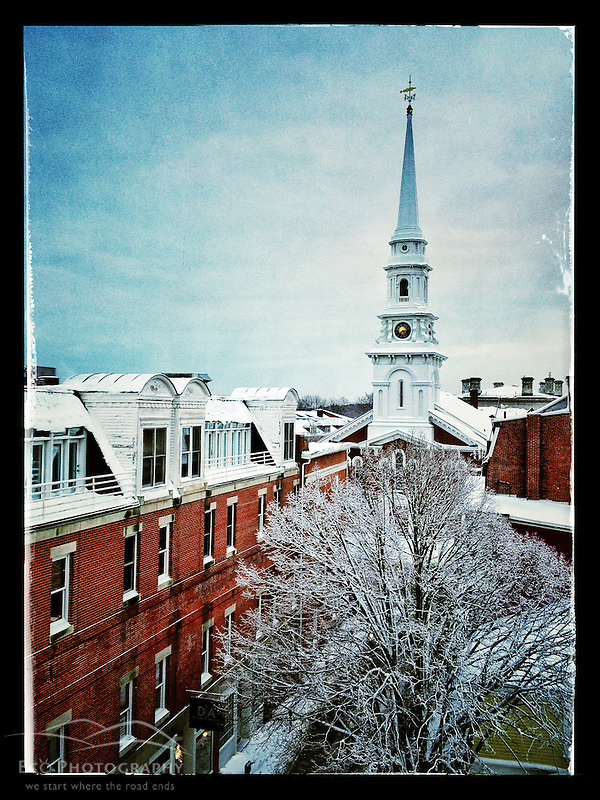 "Why I Take Pictures With My iPhone: The North Church in Portsmouth, New Hampshire's Market Square. iPhone photo - suitable for print reproduction up to 8"" x 12"". (Jerry Monkman)"