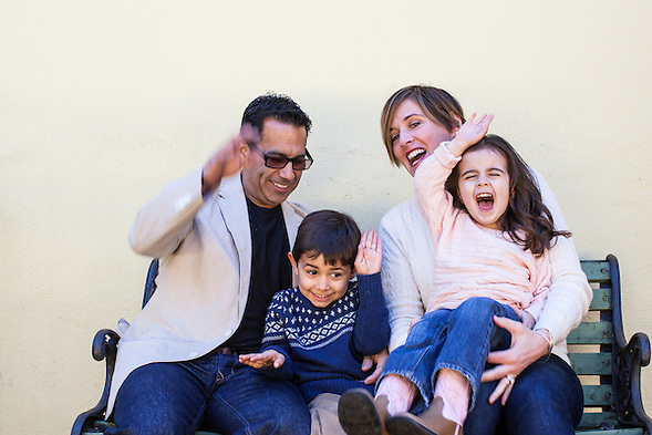 Collosi family portraits in San Mateo, California in the Bay Area. Jaunuary, 2013. (Bryan Farley)