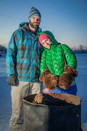 """We hooked up right after Sean arrived in Anchorage and now we are trying to envision our lives together after hockey""  -Emily Thompson with professional hockey player, Sean Curry, at Westchester Lagoon, Anchorage  akemilyt@gmail.com (Clark James Mishler)"