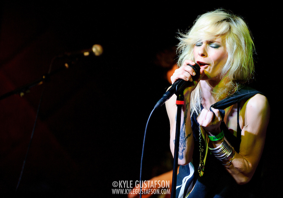 AUSTIN, TX - March 17th: Maja Ivarsson of The Sounds performs at the Mog showcase at The Phoenix as part of the 2011 South by Southwest Festival. (Photo by Kyle Gustafson) (Photo by Kyle Gustafson / For The Washington Post)