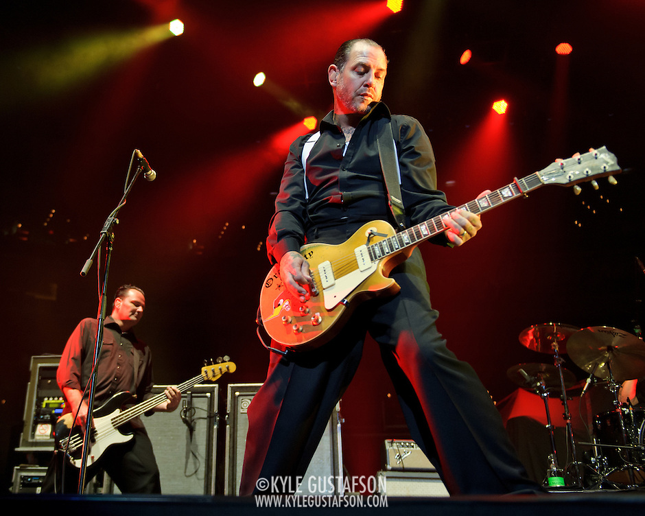 WASHINGTON, DC - November 11th, 2011 - Mike Ness of the Southern Californian punk pioneers Social Distortion open for the Foo Fighters at the Verizon Center in Washington, D.C.   (Photo by Kyle Gustafson/For The Washington Post) (Kyle Gustafson/FTWP)