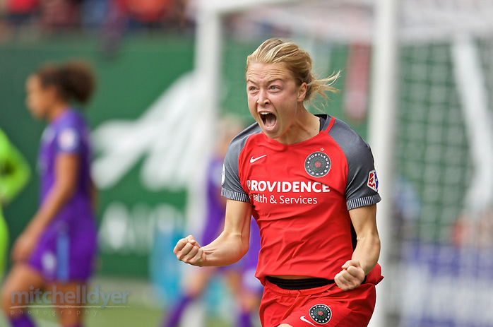 Portland, OR - {dow} {monthname} {day0}, {year4}: {headline} during a National Women's Soccer League (NWSL) semifinals match between the Portland Thorns FC and the Orlando Pride at Providence Park. (Craig Mitchelldyer/isiphotos.com)