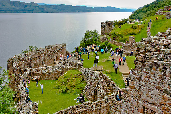 Looking across Urquhart Castle at the tourists on Loch Ness. (Ian C Whitworth)