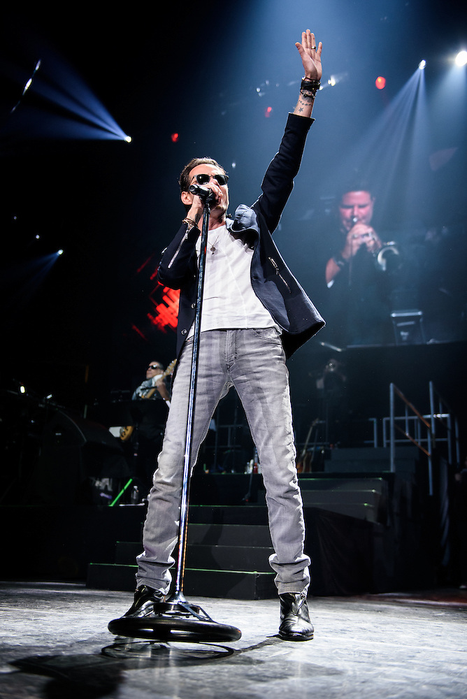 Photos of Marc Anthony performing live at Prudential Center in Newark, NJ on February 13, 2016. © Matthew Eisman/ WireImage. All Rights Reserved (Photo by Matthew Eisman/ WireImage)