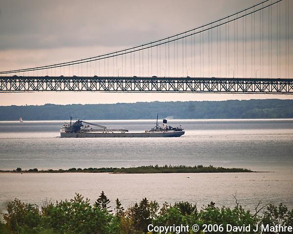 Mackinac Bridge. Image taken with a Nikon D200 camera and 18-75 mm kit lens. (David J Mathre)
