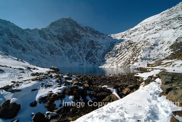 Glas Llyn & Snowdon, Yr Wyddfa, Snowdonia National Park,  Gwynedd, Wales  - Photography By Simon Kirwan