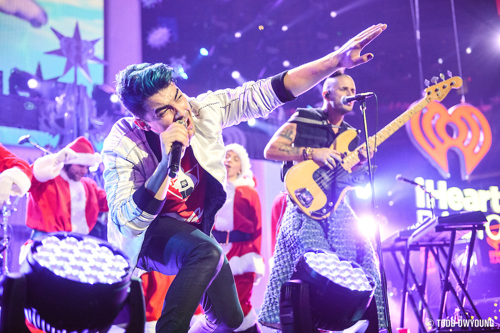 performing at the iHeartRadio Jingle Ball 2015 at Madison Square Garden in NYC on December 11, 2015. (Todd Owyoung)