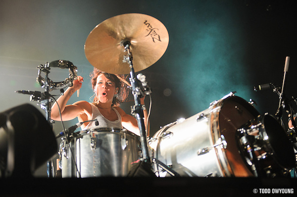 Matt & Kim performing at the Pageant in St. Louis on November 4, 2012. (Todd Owyoung)