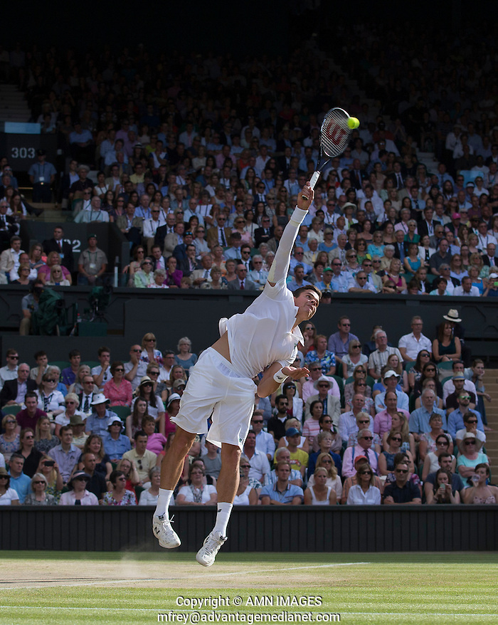 MILOS RAONIC (CAN) The Championships Wimbledon 2014 - The All England Lawn Tennis Club -  London - UK -  ATP - ITF - WTA-2014  - Grand Slam - Great Britain -  4th July  2014.  © AMN IMAGES (FREY/FREY- AMN Images)