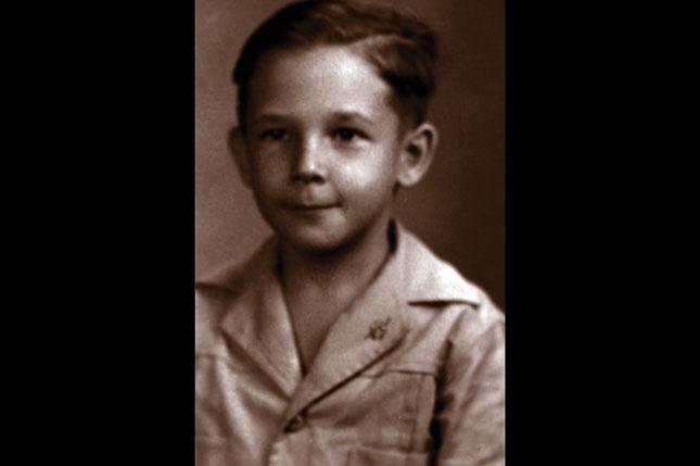 Fidel Castro, niño.