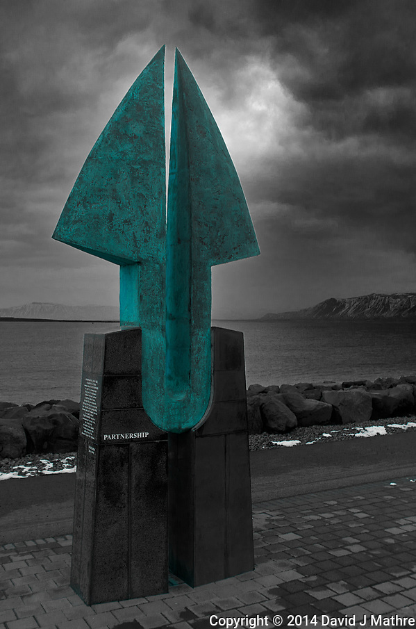 Partnership Sculpture in Reykjavik. Image taken with a Leica X2 camera (ISO 100, 24 mm, f/4, 1/40 sec). (David J Mathre)