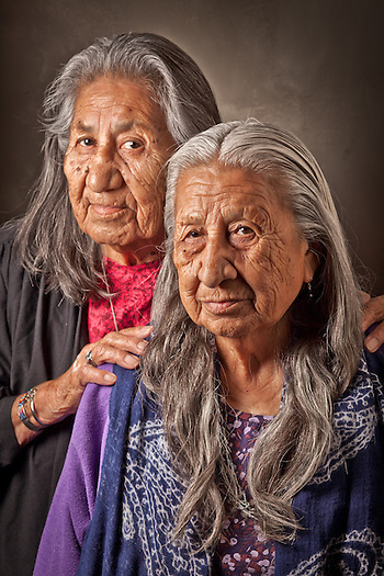 Sisters, Beatrice and Rita RVHD, during the 9th International Council of Thirteen Indigenous Grandmothers, Anchorage, Alaska (Clark James Mishler)