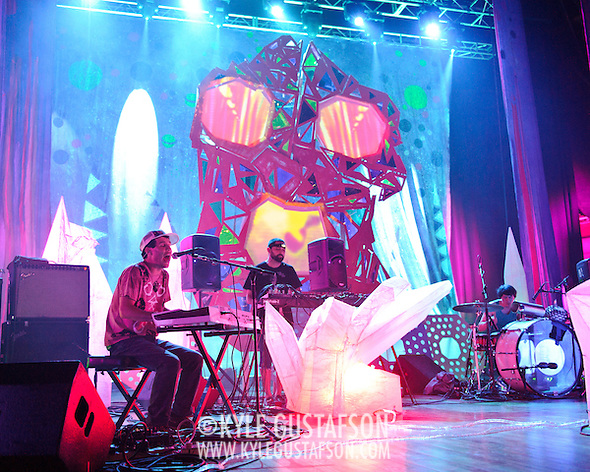 WASHINGTON, DC - July 9th, 2011 - Avey Tare, Geologist and Panda Bear of Animal Collective perform at Merriweather Post Pavilion in Columbia, MD. The band named their eighth studio album after the venue.  (Photo by Kyle Gustafson/For The Washington Post) (Photo by Kyle Gustafson / For The Washington Post)