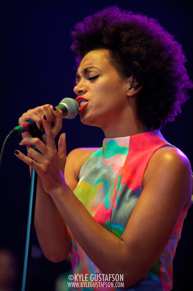 COLUMBIA, MD - May 11th,  2013 -   Solange performs at the 2013 Sweetlife Music and Food Festival at Merriweather Post Pavilion in Columbia, MD.  (Photo by Kyle Gustafson/For The Washington Post) (Kyle Gustafson/For The Washington Post)