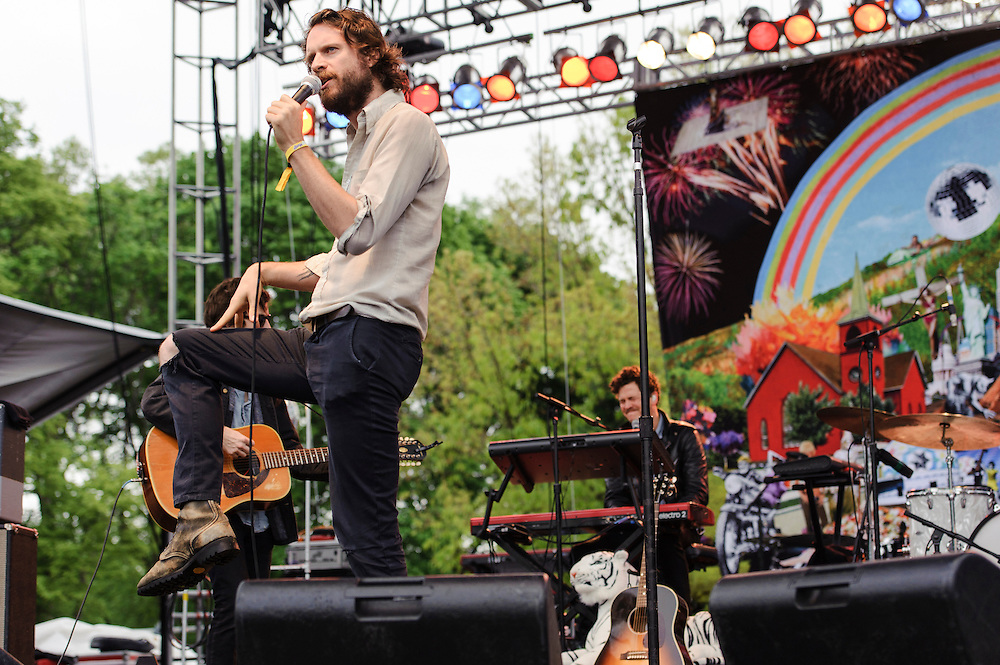 Photos of Father John Misty performing live at The Great GoogaMooga Festival at Prospect Park in Brooklyn, NY. May 18, 2013. Copyright © 2013 Matthew Eisman. All Rights Reserved (Photo by Matthew Eisman/WireImage)