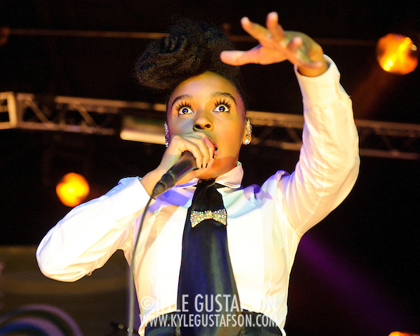 AUSTIN, TX - March 18th: Janelle Monae performs material from her album The Archandroid at the Atlantic Records showcase at La Zona Rosa as part of the 2011 South by Southwest Festival. (Photo by Kyle Gustafson) (Photo by Kyle Gustafson / For The Washington Post)