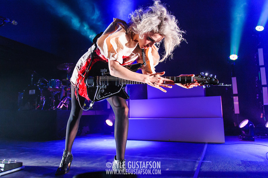 WASHINGTON, DC - March 1st, 2014 - Annie Clark, aka St. Vincent, performs at the first of two sold-out nights at the 9:30 Club in Washington, D.C. Earlier this week, she released her self-titled fourth studio album to great critical acclaim. (Photo by Kyle Gustafson / For The Washington Post) (Kyle Gustafson/For The Washington Post)