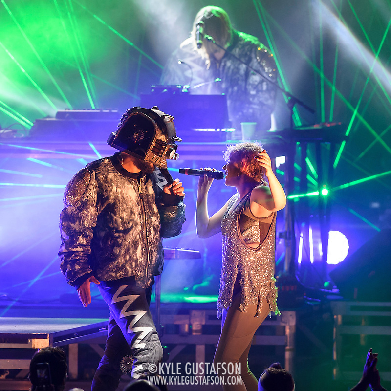 VIENNA, VA - August 21, 2014 - Swedish pop star Robyn performs with the Norwegian electronic music duo Royksopp at Wolf Trap's Filene Center in Vienna, VA. The two artists are touring together after releasing a collaborative mini-album titled Do It Again earlier this year. (Photo by Kyle Gustafson / For The Washington Post) (Kyle Gustafson/For The Washington Post)