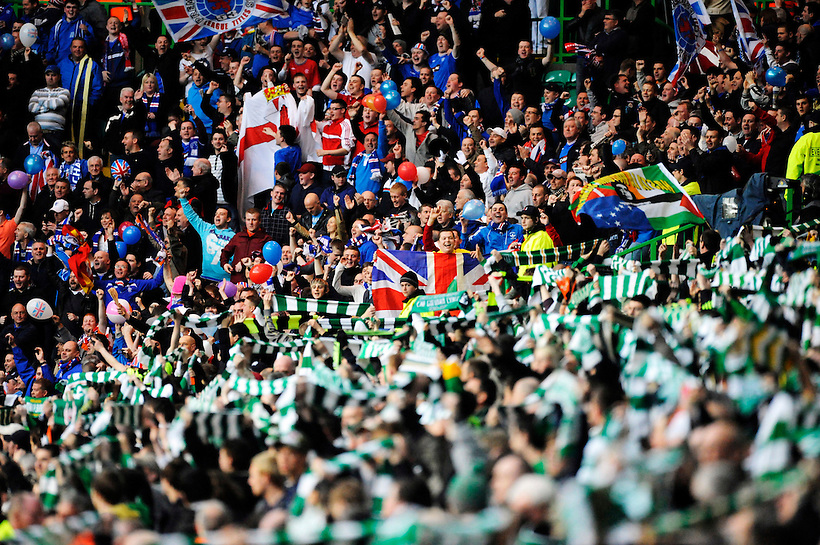 4TH MAY 2010, Celtic v Rangers, SPL match at Celtic Park, Glasgow, Celtic and Rangers fans pre match, Rob Casey Photography. (ROB CASEY/ROB CASEY PHOTOGRAPHY)