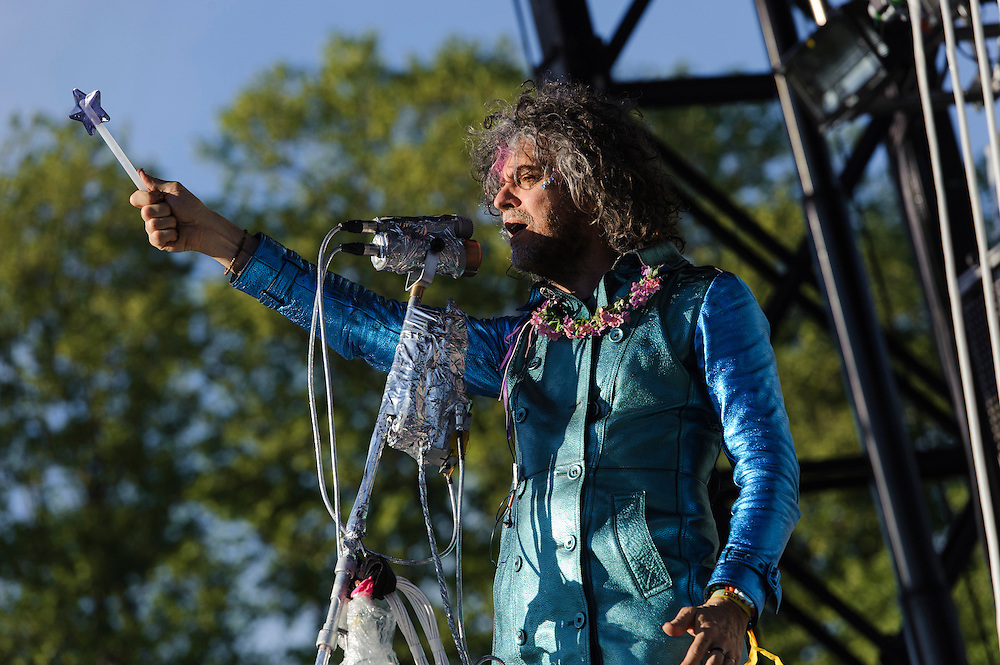 Photos of The Flaming Lips performing live at The Great GoogaMooga Festival kickoff concert at Prospect Park in Brooklyn, NY. May 17, 2013. Copyright © 2013 Matthew Eisman. All Rights Reserved (Photo by Matthew Eisman/WireImage)